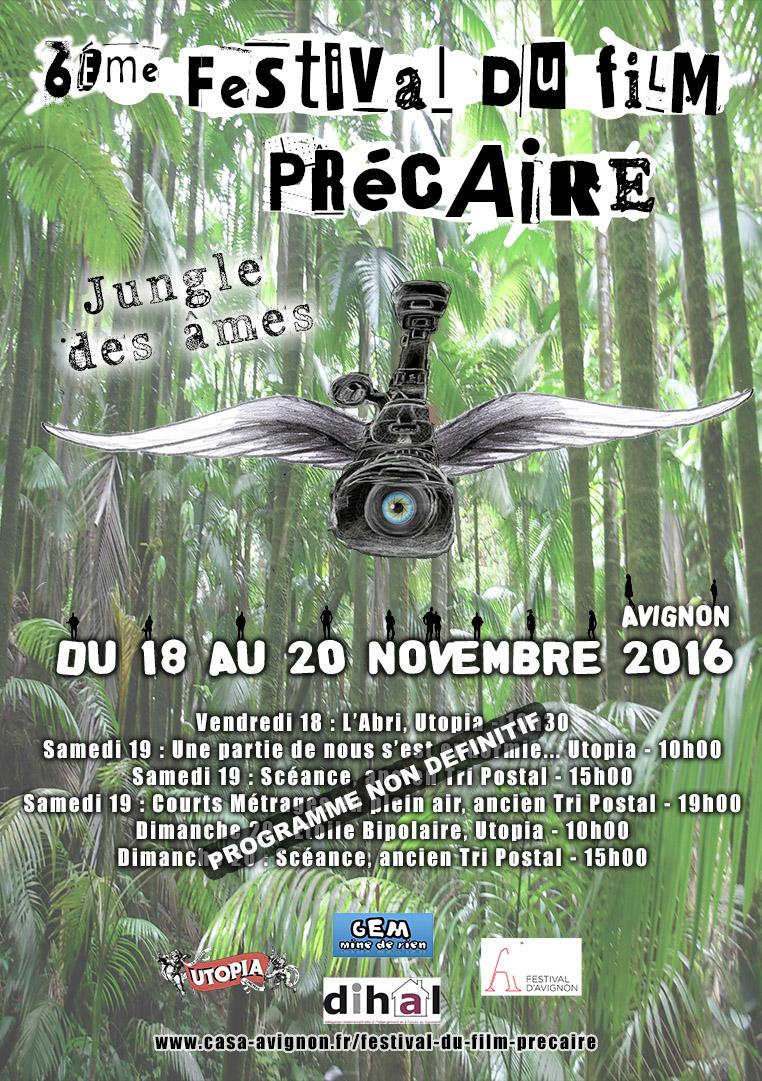 affiche du 6éme festival du film précaire d'Avignon